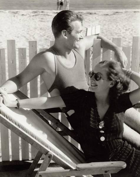 Water Photograph - Douglas Fairbanks Jr. With Joan Crawford by Edward Steichen