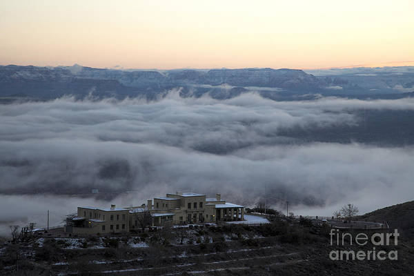 Photograph - Douglas Mansion Above The Clouds Hovering Over The Verde Valley From Jerome Arizona by Ron Chilston