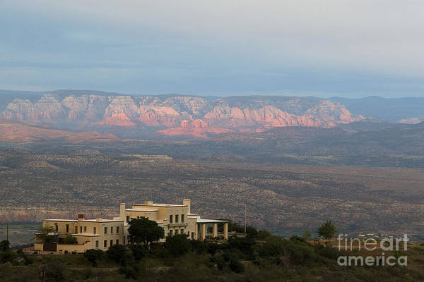 Photograph - Douglas Mansion And Red Rocks Of Sedona by Ron Chilston