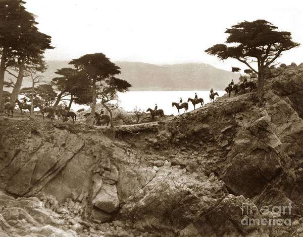 Photograph - Douglas School For Girls At Lone Cypress Tree Pebble Beach 1932 by California Views Archives Mr Pat Hathaway Archives