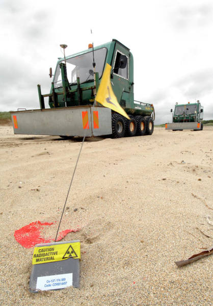 Radiation Wall Art - Photograph - Dounreay Beach Radiation Monitoring by Public Health England