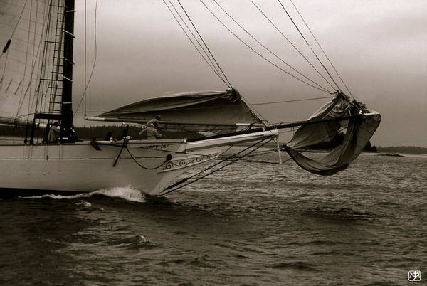Photograph - Dousing Headsails by John Meader