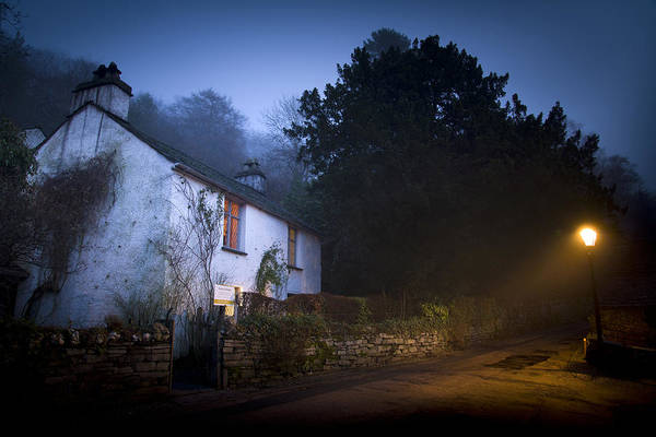 Grasmere Wall Art - Photograph - Dove Cottage By Night by Andrew James