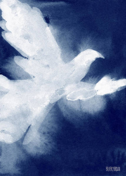 Blue And White Wall Art - Painting - Dove Watercolor Painting Of Birds by Beverly Brown