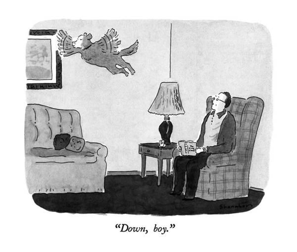 November 25th Drawing - Down, Boy by Danny Shanahan