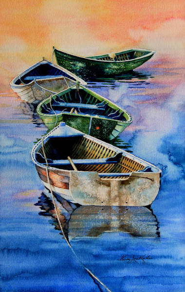 Down East Dories At Dawn Art Print