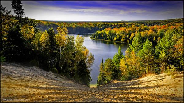 Manistee National Forest Wall Art - Photograph - Down Hill Into Fall by LeeAnn McLaneGoetz McLaneGoetzStudioLLCcom
