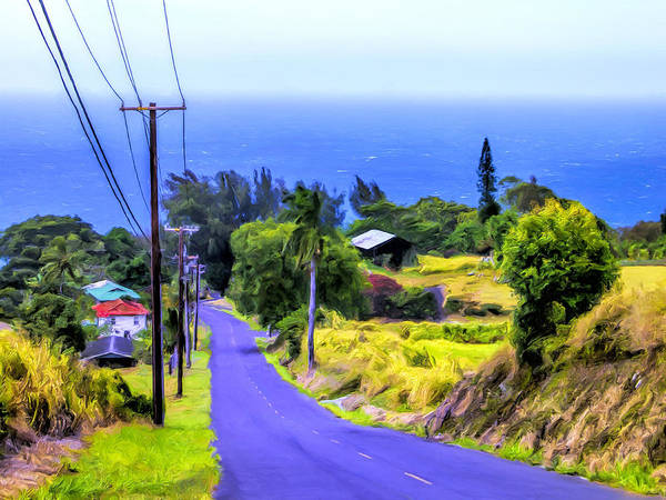 Kona Painting - Down Into Honokaa by Dominic Piperata