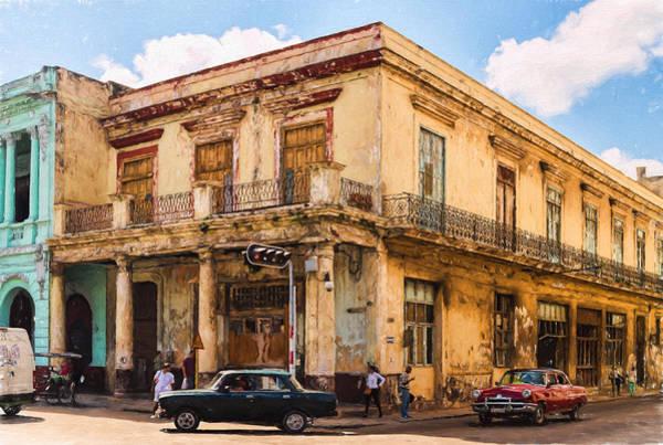 Photograph - Down On The Corner - In Havana - V2 by Les Palenik