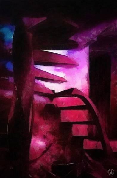 Cellar Digital Art - Down Or Up by Gun Legler