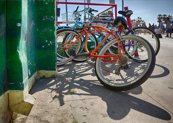 Bicycle Rack Photograph - Down Spout And Bikes by Scott Campbell