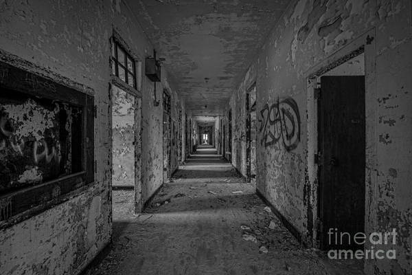 Nikon D800 Wall Art - Photograph - Down The Hall Bw by Michael Ver Sprill