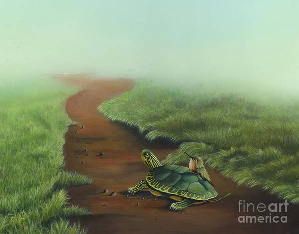 Painting - Down The Path by Rosellen Westerhoff