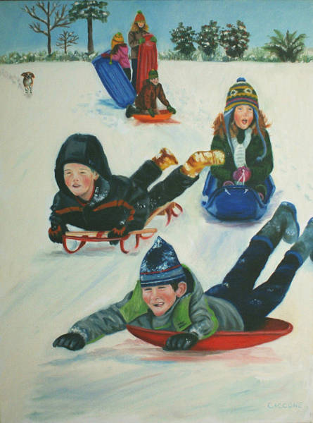 Painting - Down The Slippery Slope by Jill Ciccone Pike