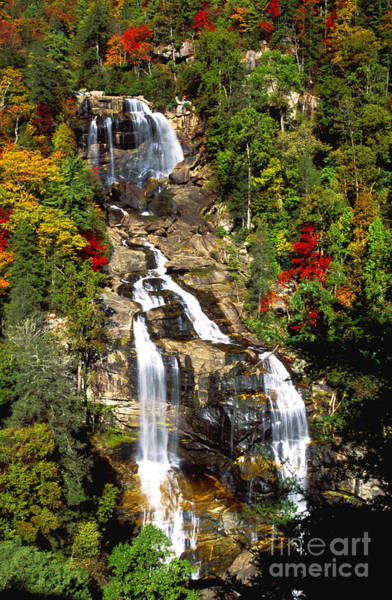 Wall Art - Photograph - Down Whitewater Falls by Paul W Faust -  Impressions of Light