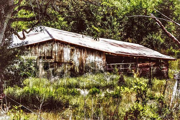 Photograph - Farm - Barn - Downhill Barn by Barry Jones