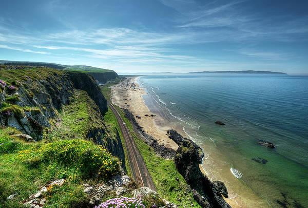 Wall Art - Photograph - Downhill Benone Beach Railway View by Gareth Wray