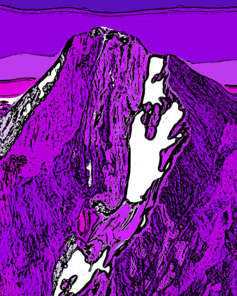 Wall Art - Digital Art - Downie Peak - British Columbia by David G Paul