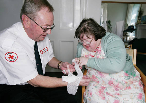 First Officer Photograph - Down's Syndrome by Gustoimages/science Photo Library