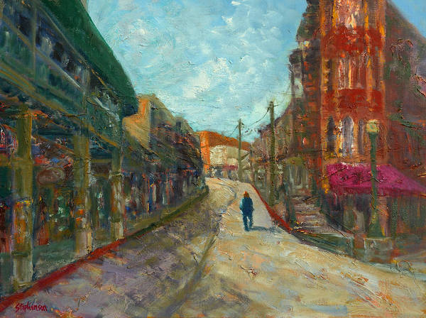 Eureka Painting - Downtown All To Myself by Jody Stephenson