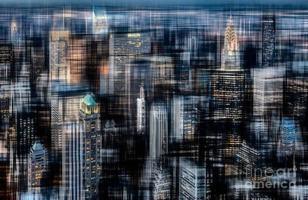 Photograph - Downtown At Night by Hannes Cmarits