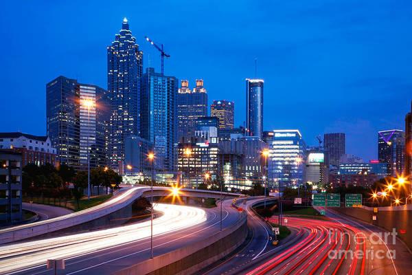 I-75 Photograph - Downtown Atlanta At Dusk by Bill Cobb