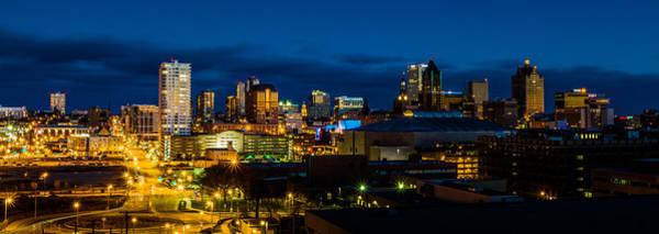 Photograph - Downtown Blue Hour by Randy Scherkenbach