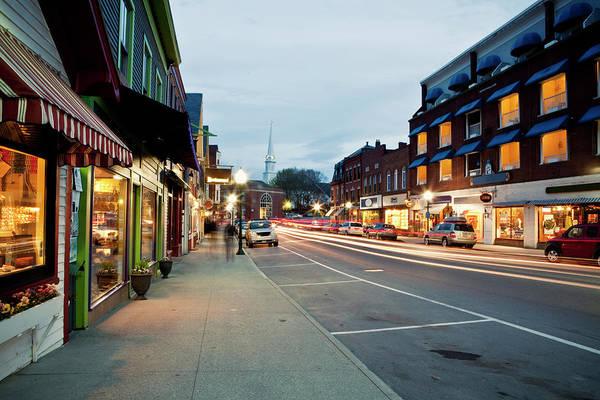 Camden Photograph - Downtown Camden, Maine Is Seen At by Chris Bennett