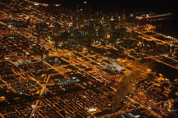 Photograph - Downtown Chicago At Night by Nathan Rupert