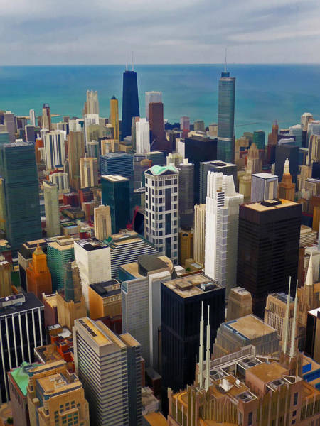 Photograph -  Chicago Downtown View From Willis Tower by Ginger Wakem