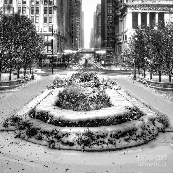 Loop Photograph - Downtown Chicago In Winter by Twenty Two North Photography