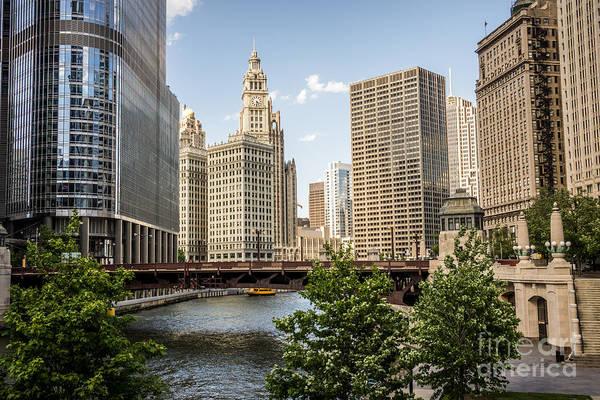 Wabash Avenue Wall Art - Photograph - Downtown Chicago Skyline At Wabash Avenue Bridge by Paul Velgos