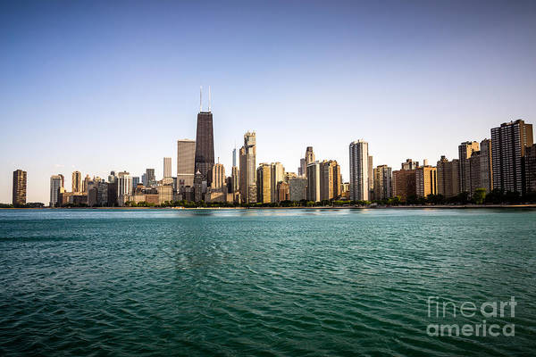 Downtown City Buildings Skyline In Chicago Art Print