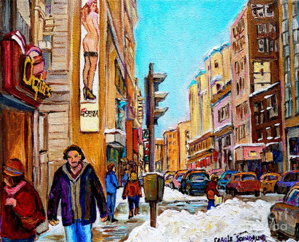 Painting - Downtown City Life by Carole Spandau