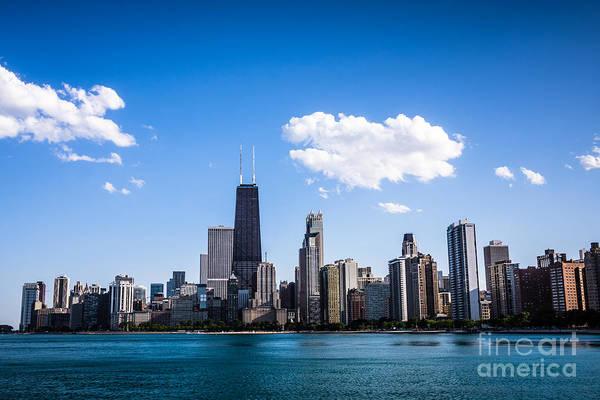 Downtown City Skyline Of Chicago Art Print