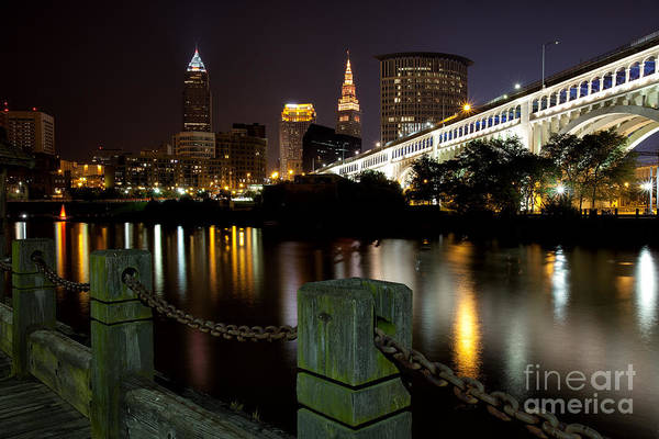Photograph - Downtown Cleveland by Joshua Clark