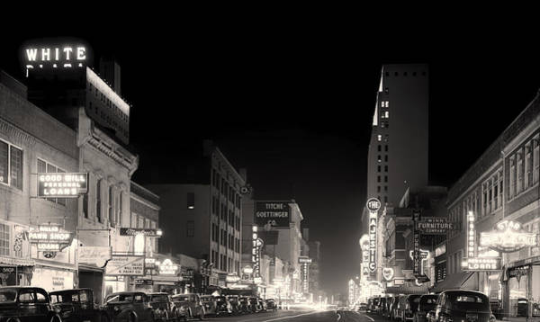 Wall Art - Photograph - Downtown Dallas 1942 by Mountain Dreams