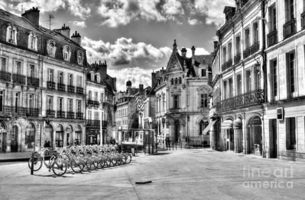 Photograph - Downtown Dijon Bw by Mel Steinhauer
