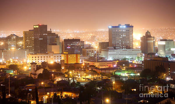 Downtown El Paso Photograph - Downtown El Paso by Denis Tangney Jr