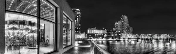 Rapids Photograph - Downtown Grand Rapids In Black And White by Twenty Two North Photography