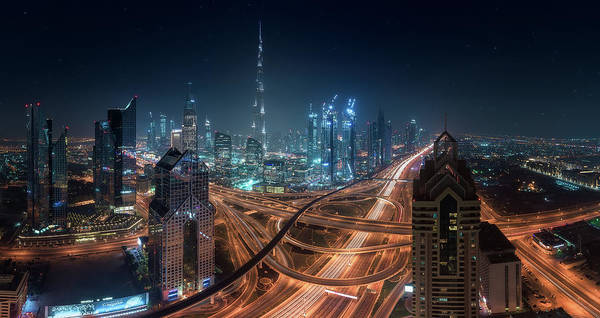 Future Photograph - Downtown by Javier De La