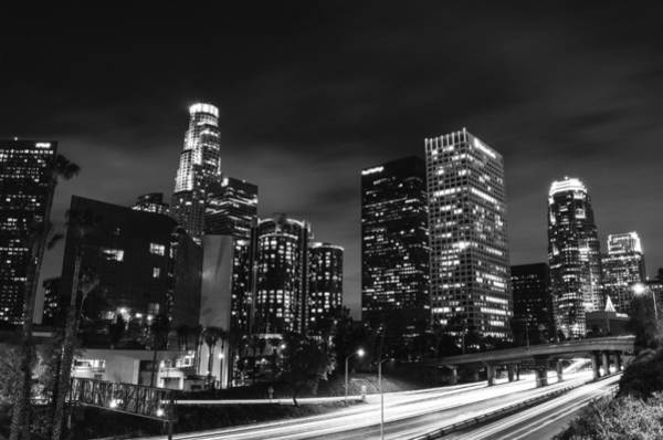Los Angeles Skyline Photograph - Downtown Los Angeles by Art K