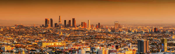 Wall Art - Photograph - Downtown Los Angeles In Orange Hues by Bob Stefko