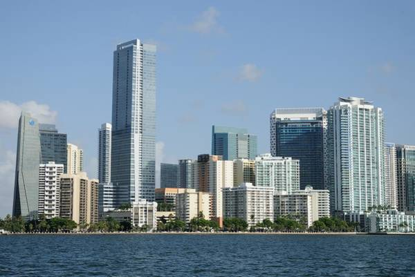Photograph - Downtown Miami With Skyscrapers by Bradford Martin