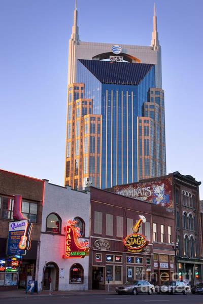 Honky Tonk Photograph - Downtown Nashville by Brian Jannsen