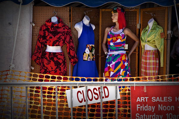 Photograph - Downtown Outdoor Clothing Display by Randall Nyhof