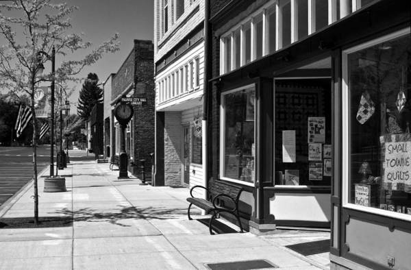 Photograph - Downtown Palouse In Black And White by Lee Santa