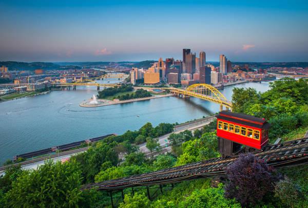 Downtown Pittsburgh, Pennsylvania Art Print by HaizhanZheng