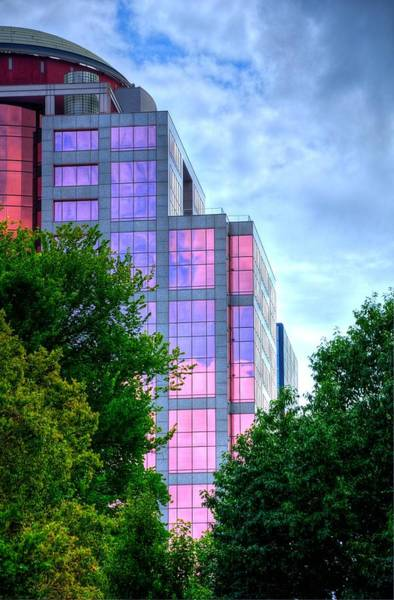 Photograph - Downtown Reflections 17341 by Jerry Sodorff