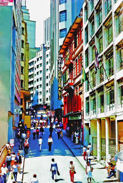Wall Art - Photograph - Downtown Sao Paulo At Midday by Steve Ohlsen